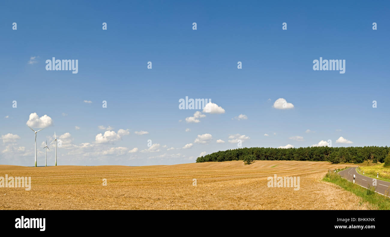 Wind wheels, Brandenburg, Germany, Europe - Stock Image