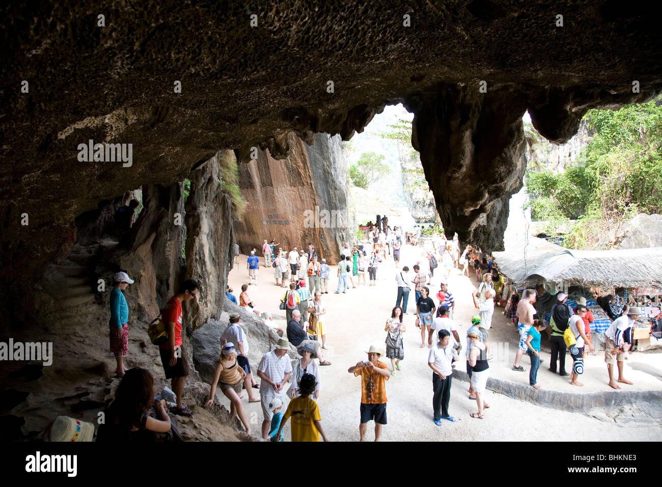 Exploring Caves At James Bond Island Stock Photo 28093467
