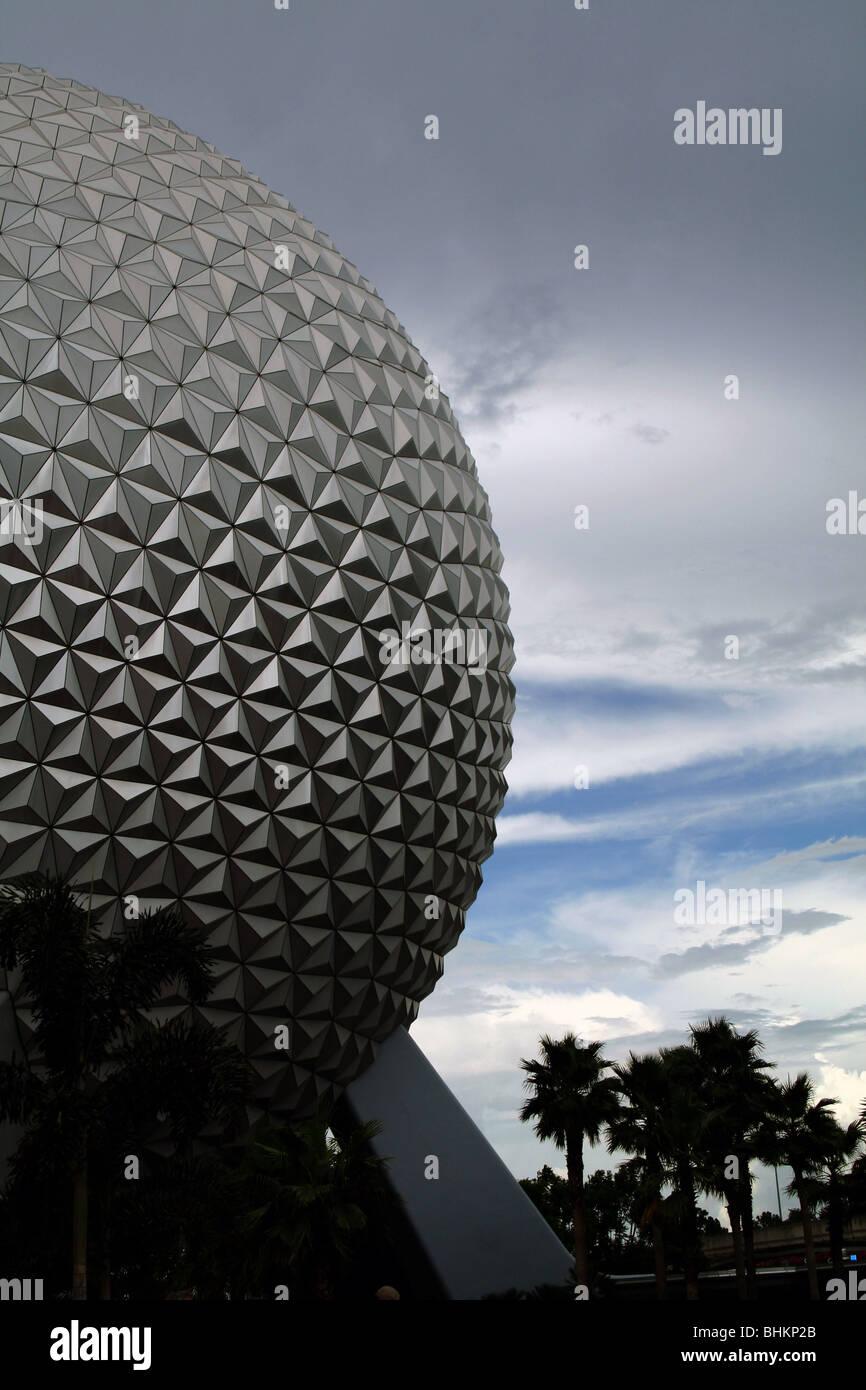 Spaceship earth Epcot, Orlando Florida USA - Stock Image