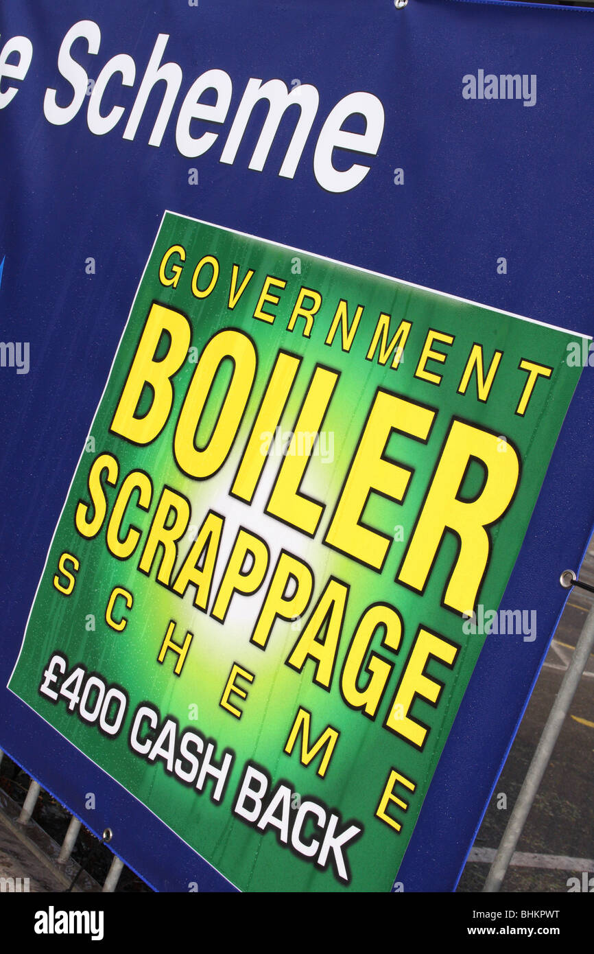 Government announces scrappage scheme for old domestic boilers.