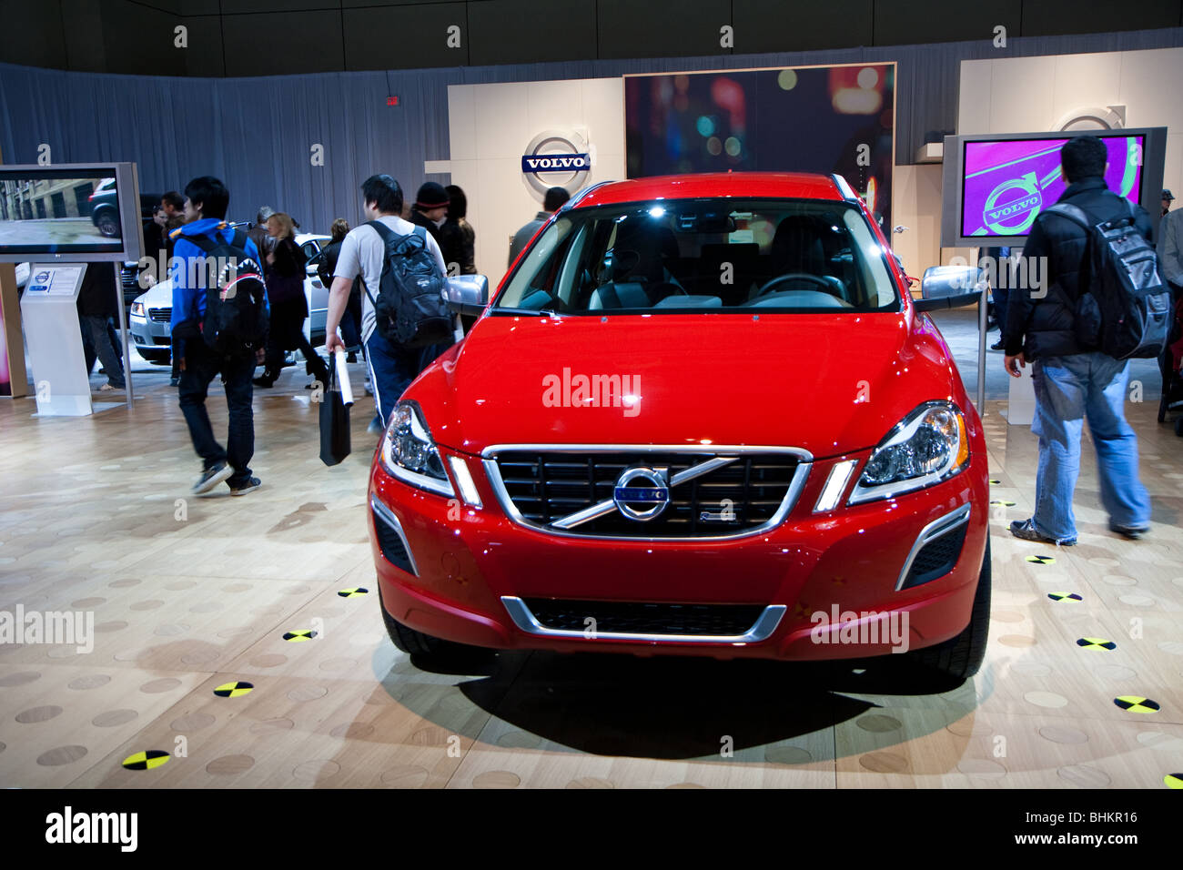 red volvo autoshow - Stock Image