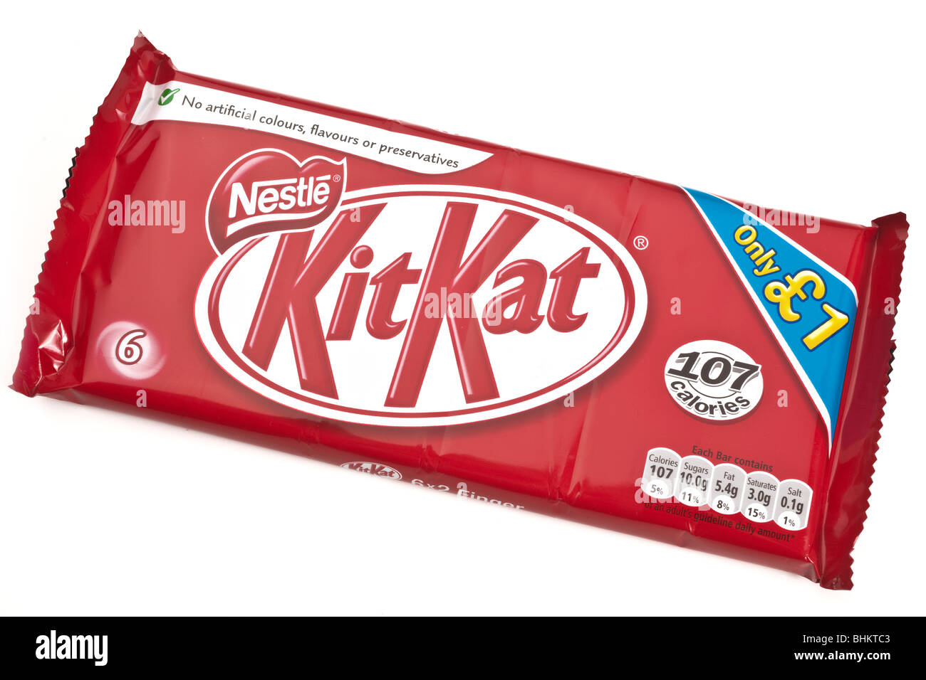 Pack of six two finger Kit Kat biscuits - Stock Image