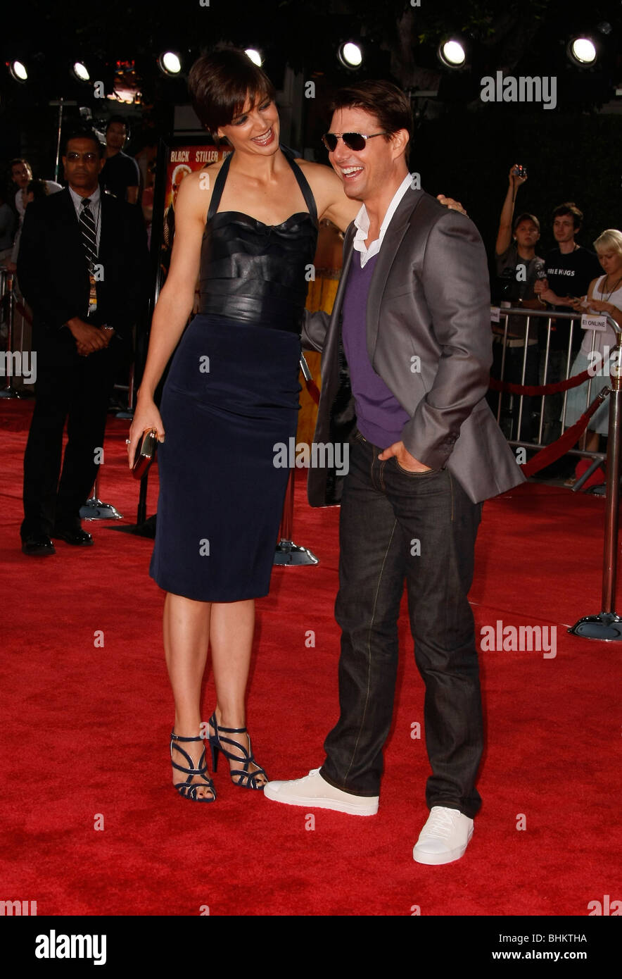 KATIE HOLMES TOM CRUISE TROPIC THUNDER PREMIERE LOS ANGELES CA USA 11 August 2008 Stock Photo