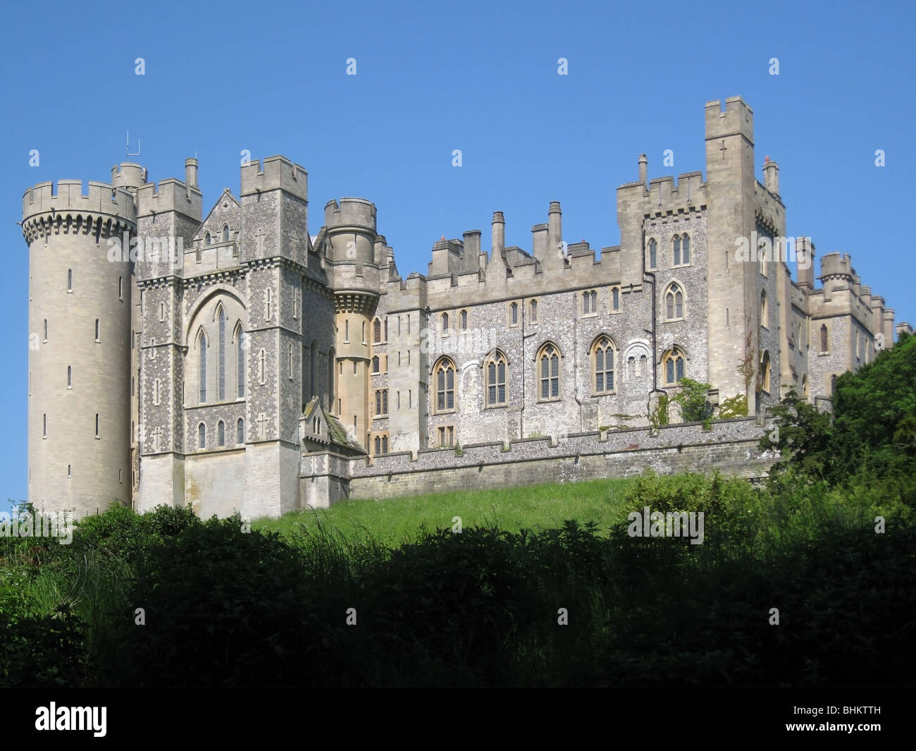 Arundel Castle, seat of The Dukes of Norfolk, West Sussex - 2 - Stock Image