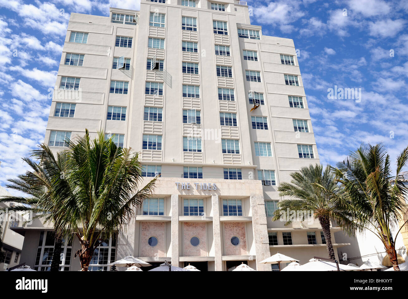 Detail of The Tides Hotel, Art Deco District, South Beach, Miami Beach, FL, USA - Stock Image