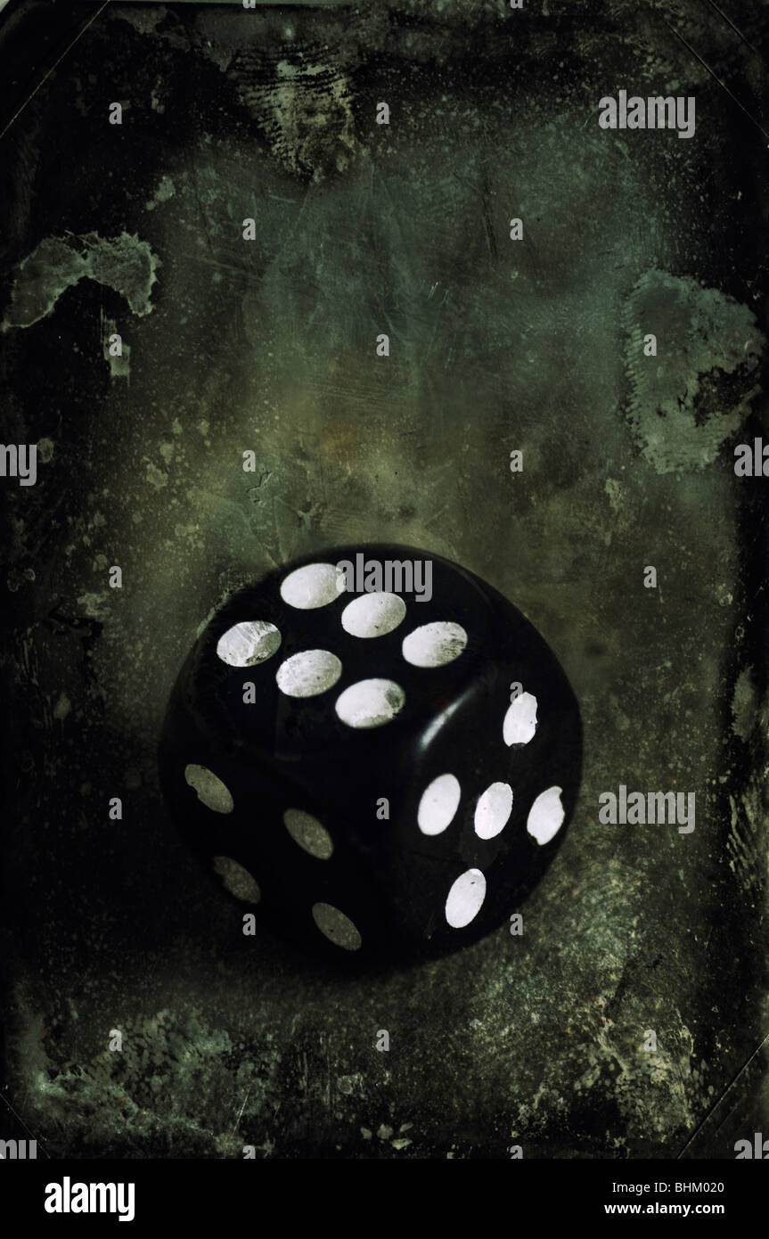 Dice with texture - Stock Image