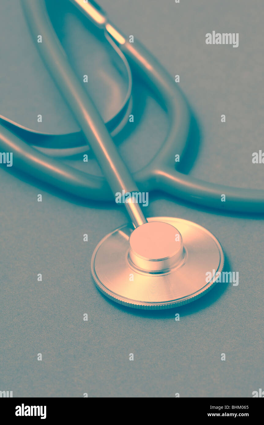 Medical stethoscope - Stock Image