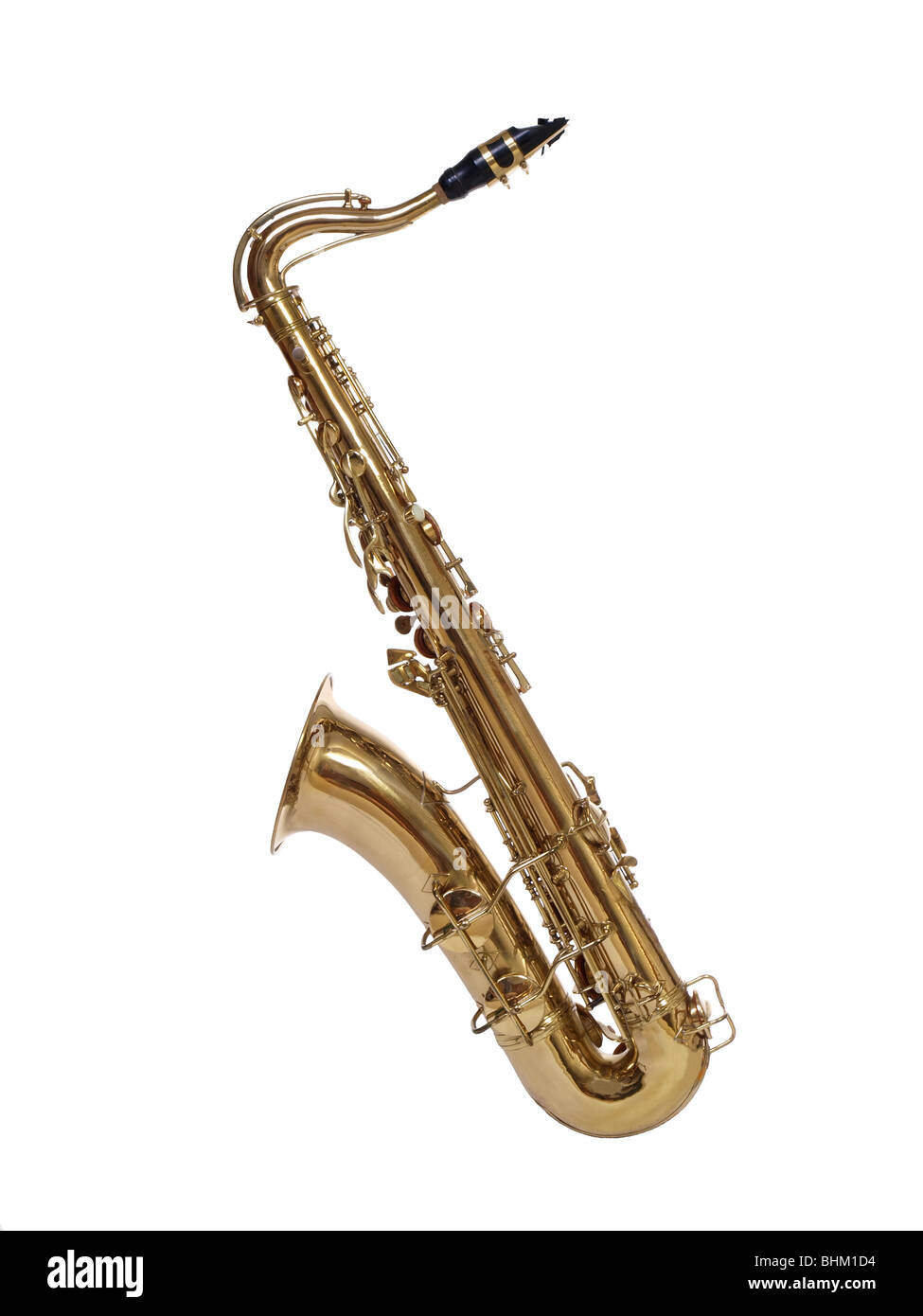 Vintage saxophone, carefully preserved, from the 1930's. - Stock Image