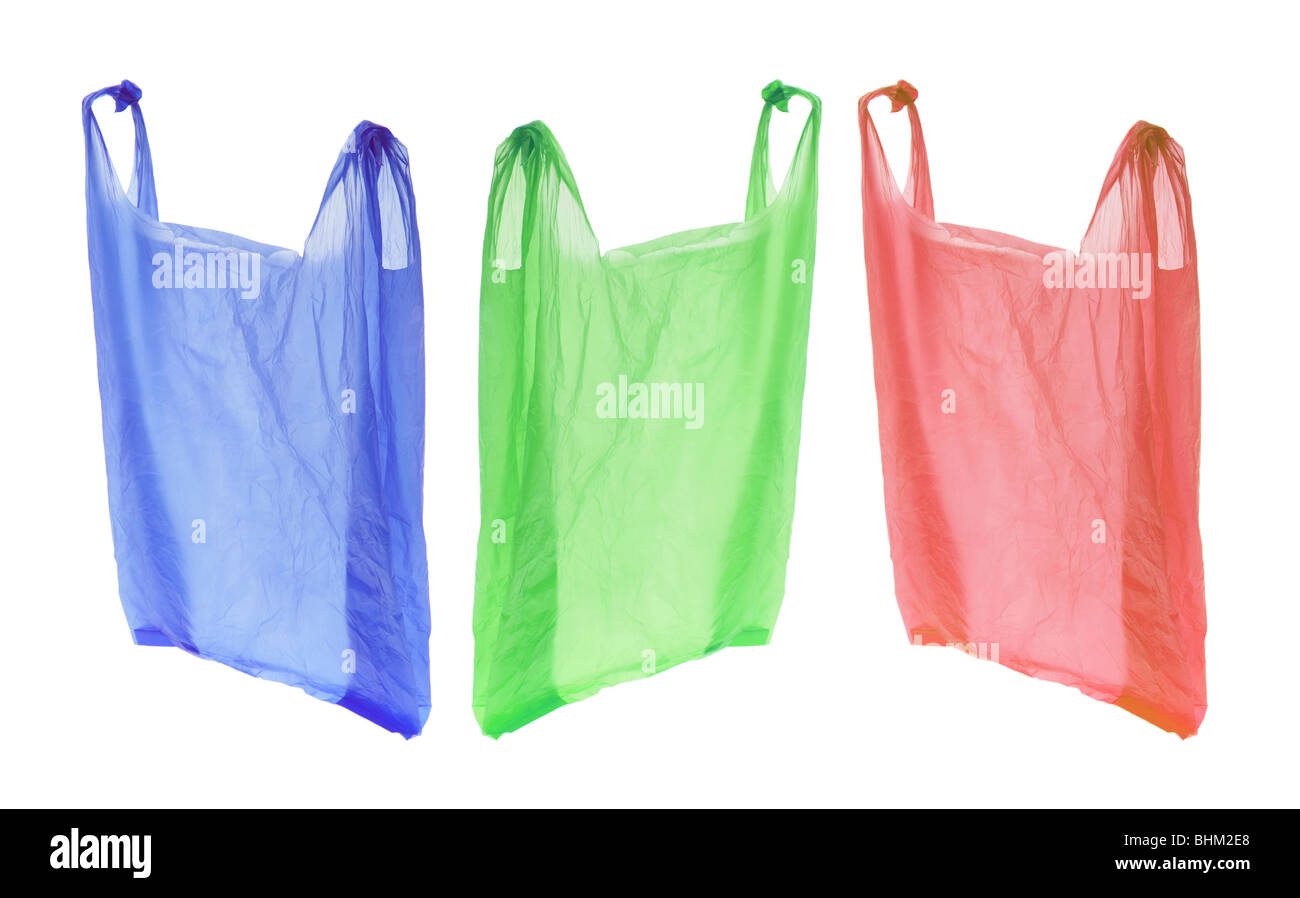 Plastic Shopping Bags - Stock Image
