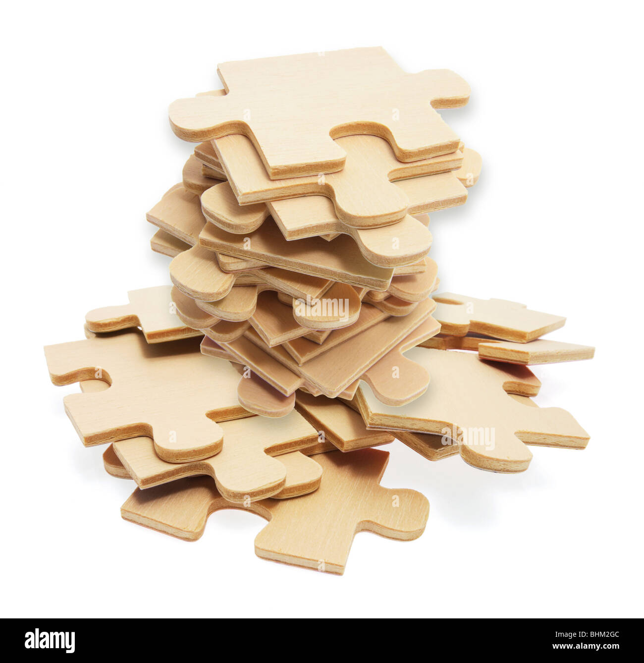 Pile of Jigsaw Puzzle Pieces - Stock Image