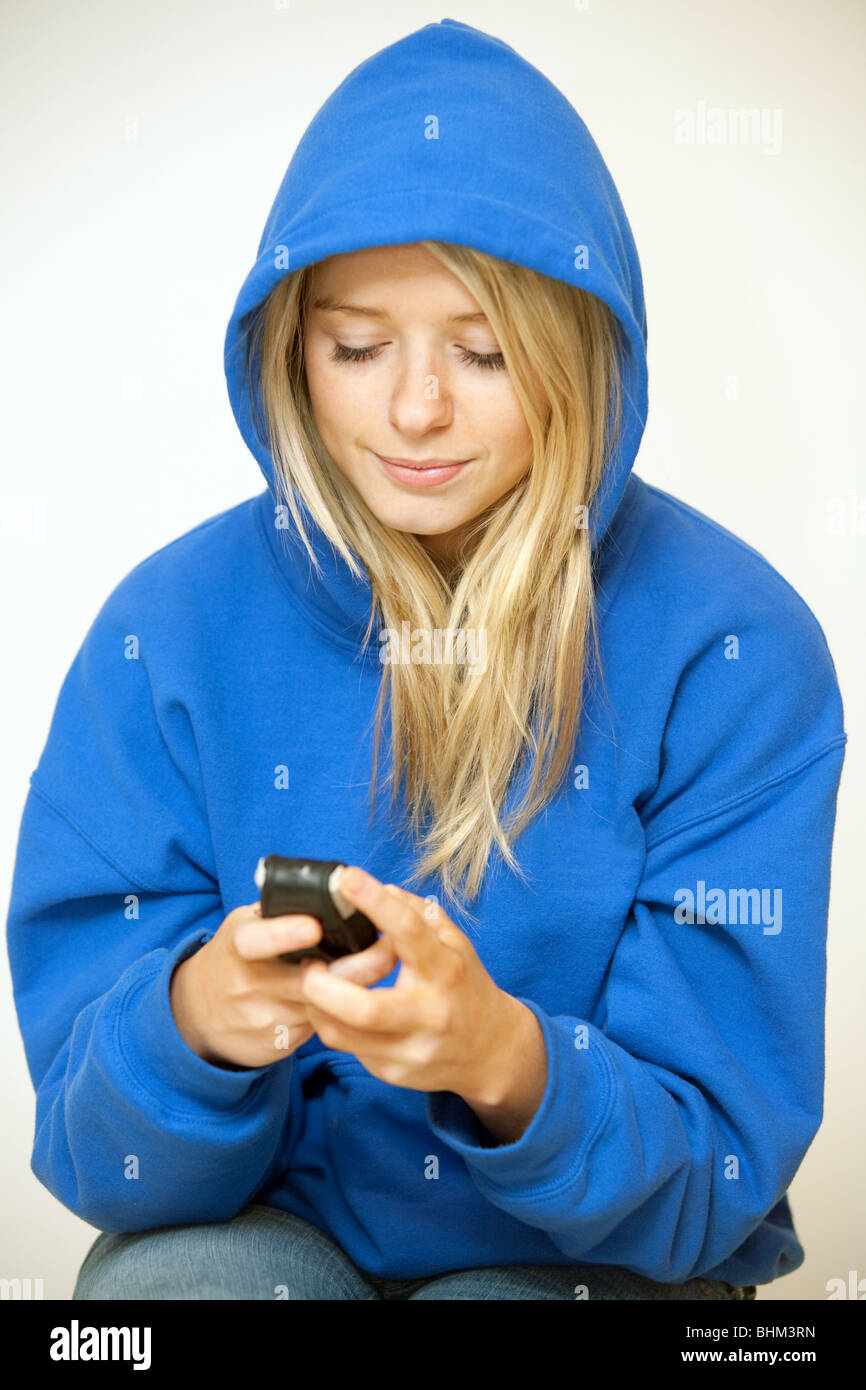 Girl Wearing A Hoodie Stock Photos Amp Girl Wearing A Hoodie