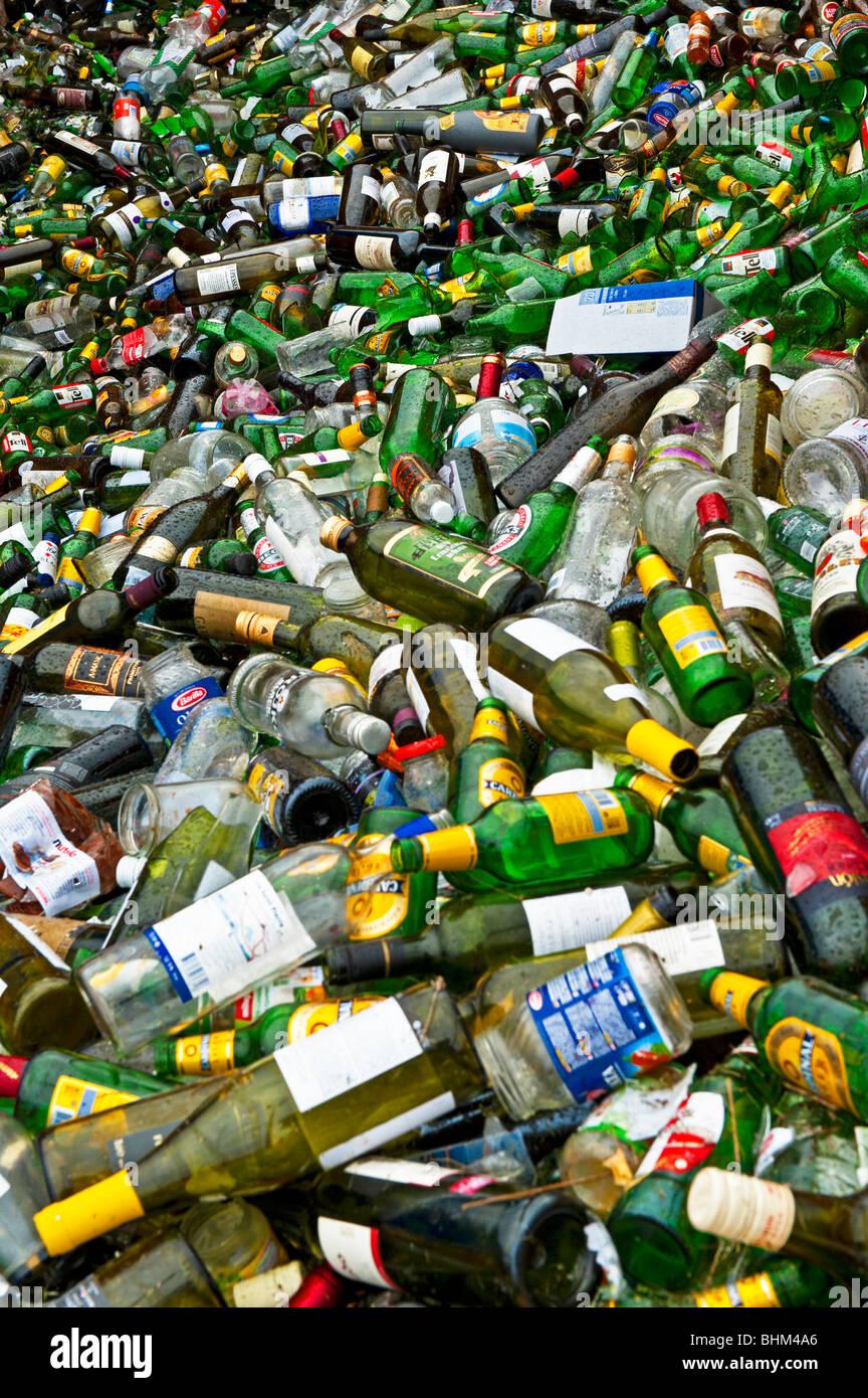 A Swiss bottle bank - Stock Image