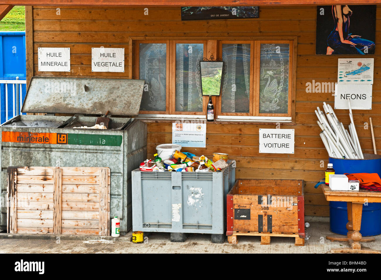 A Swiss recycling centre - Stock Image