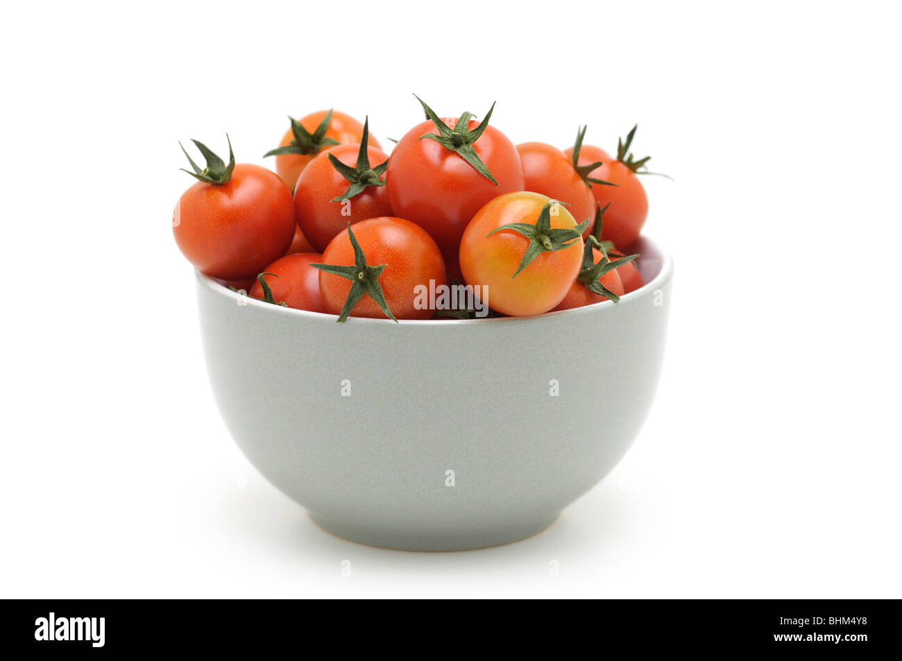 Cherry Tomatoes in Bowl - Stock Image