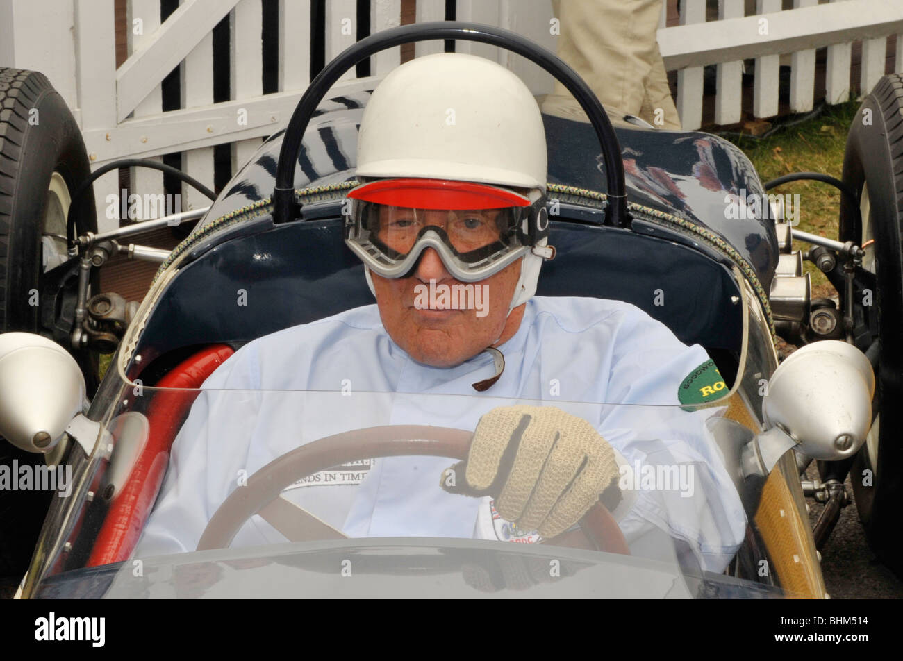 Sir Stirling Moss OBE at Goodwood Revival 2009  celebrating his 80th birthday. - Stock Image