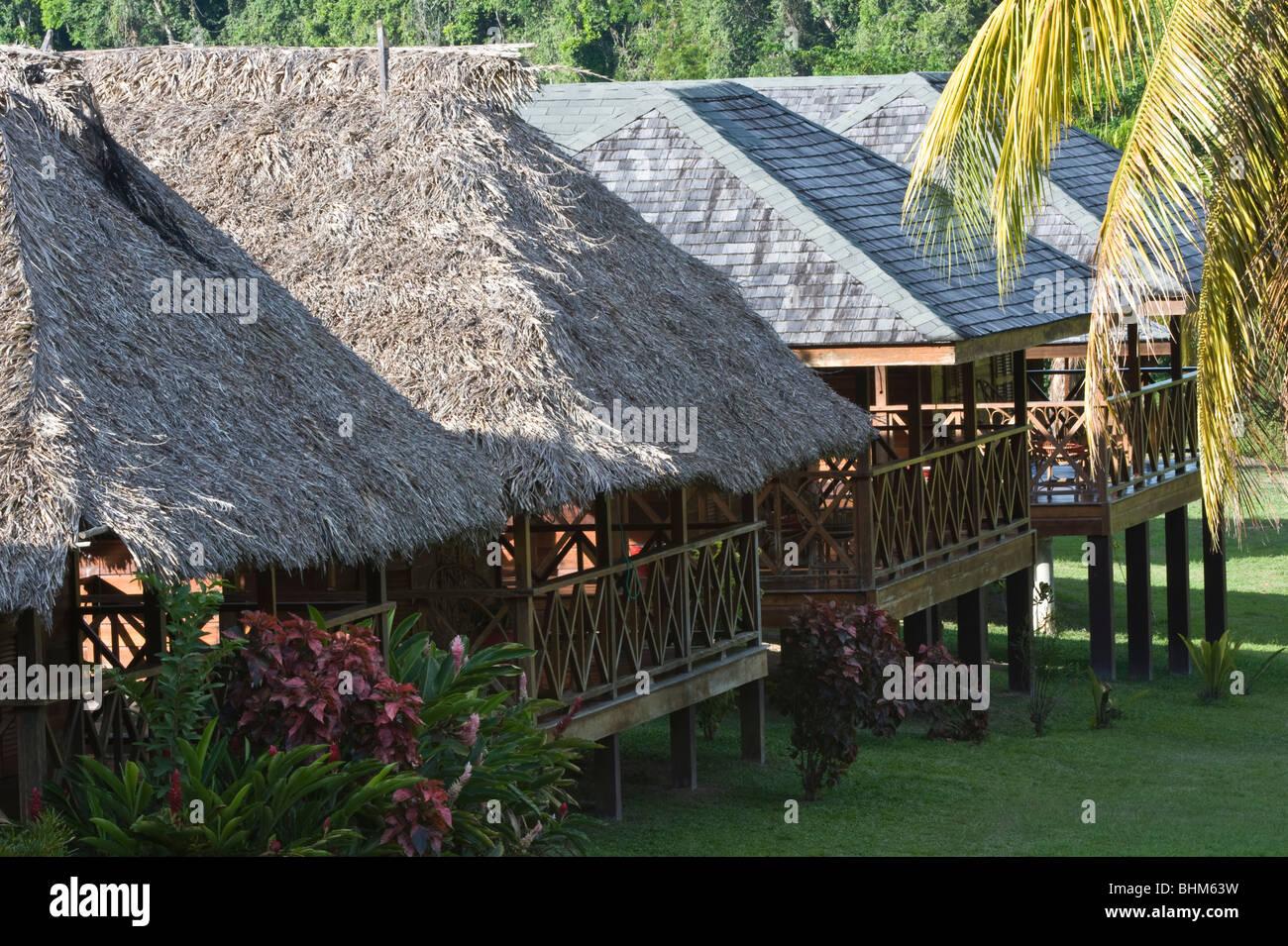 The Iwokrama River Lodges Iwokrama International Centre for Rainforest Conservation & Development Guyana South - Stock Image