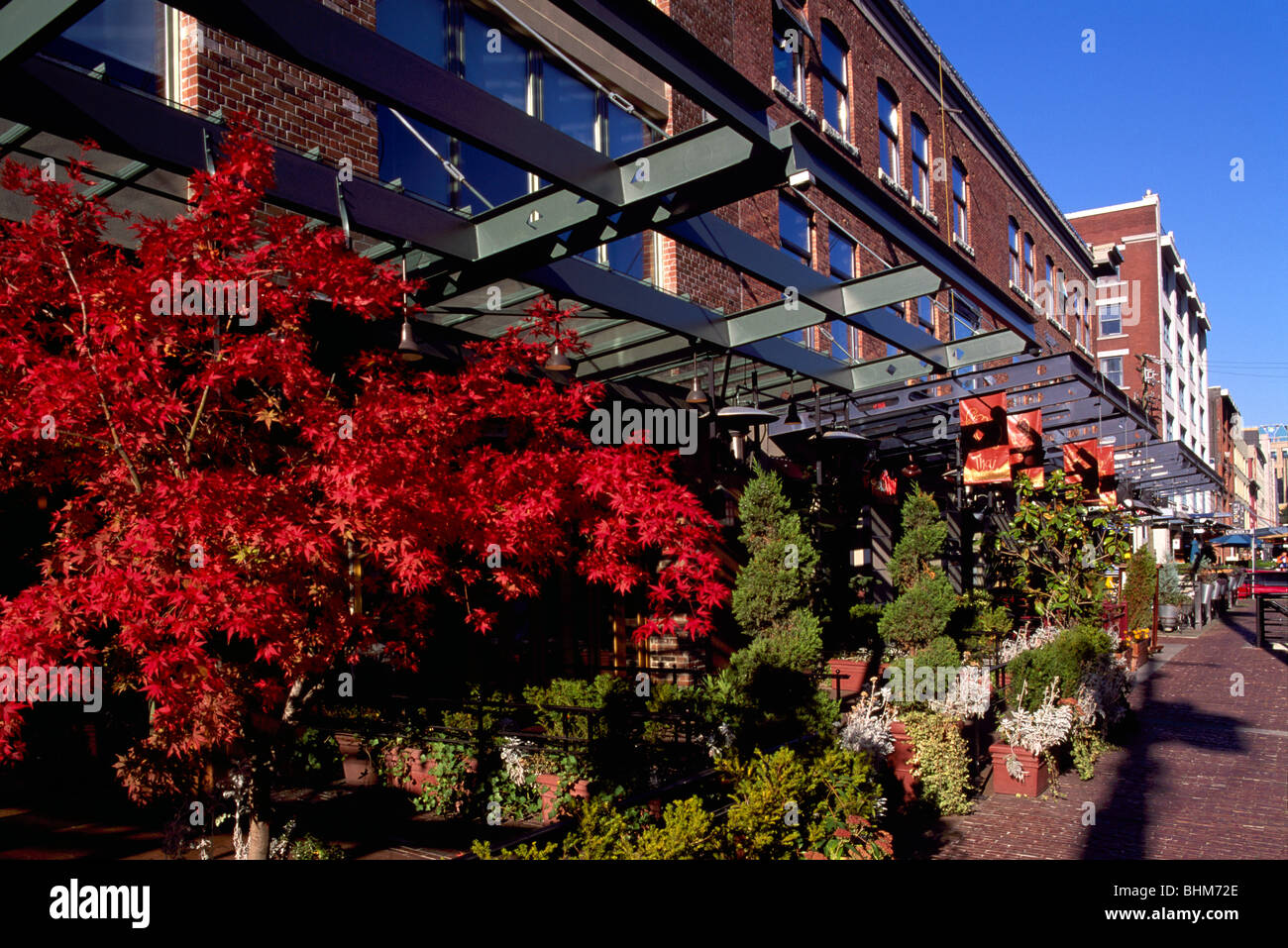 Yaletown Vancouver Bc British Columbia Canada Outdoor Stock
