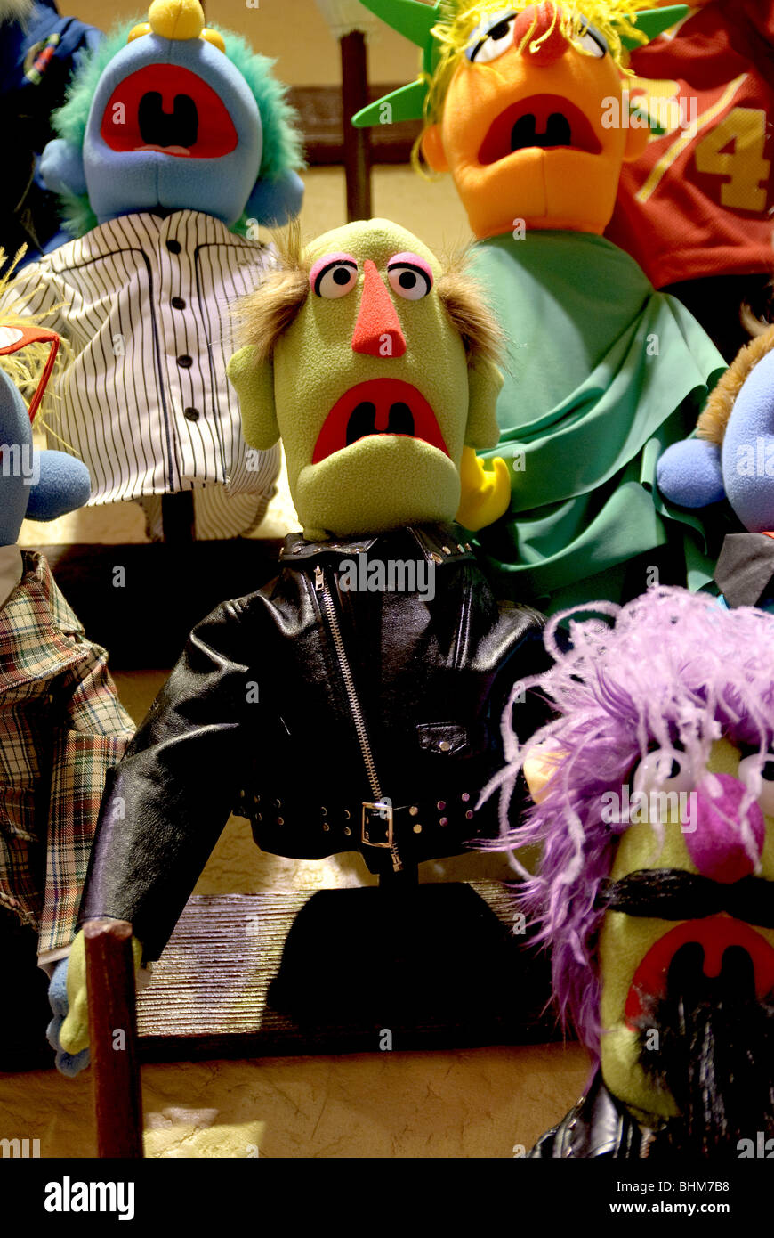 Build Your Own Muppet at the FAO Schwarz Toy Whatnot Workshop, New York City - Stock Image