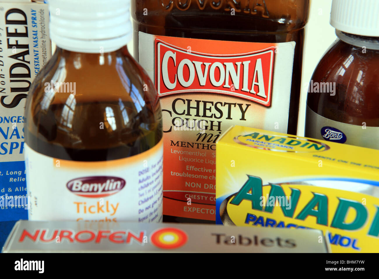 Cold & Flu remedies - Stock Image