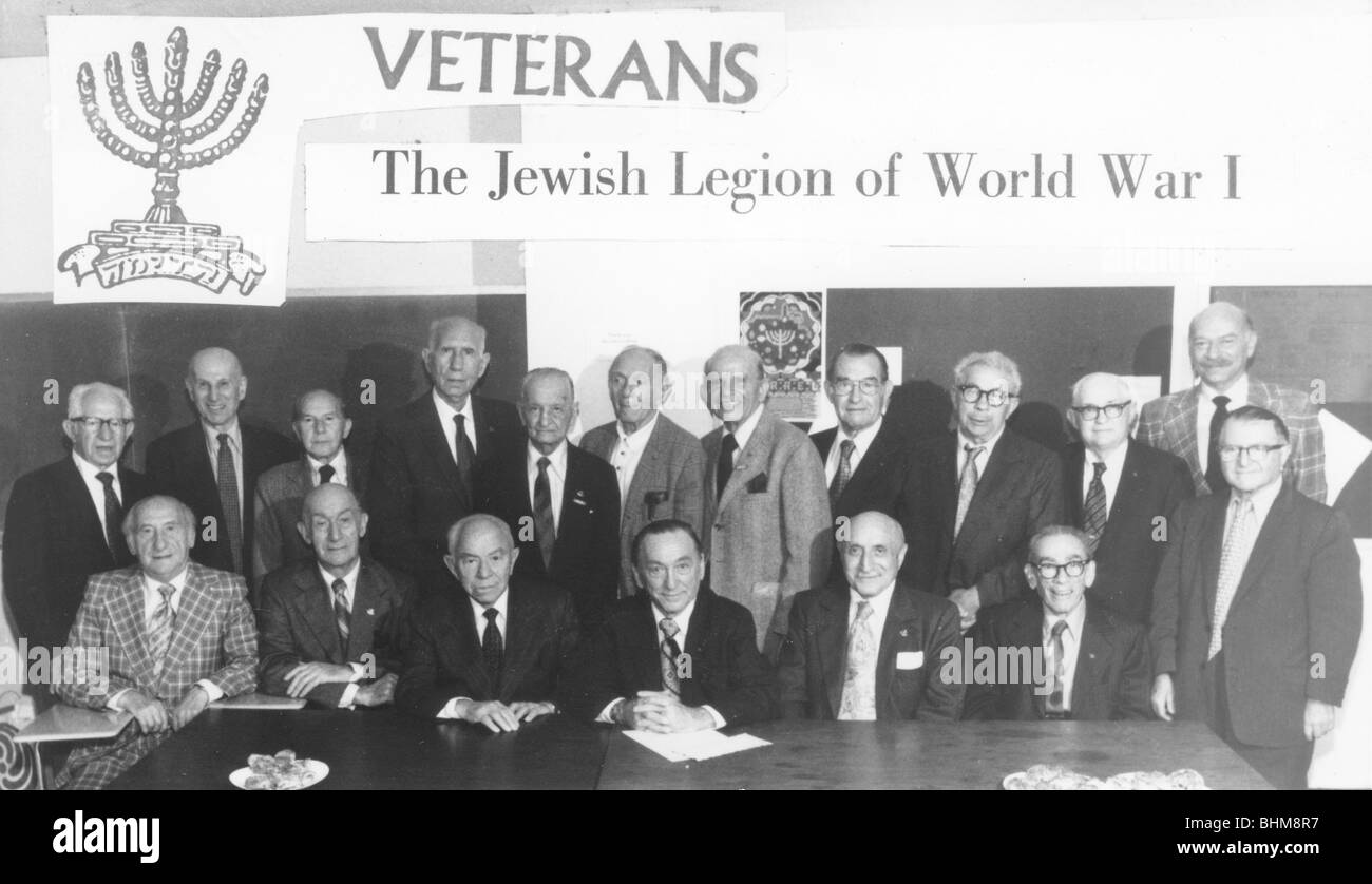 Reunion of veterans of the Jewish Legion from WWI, c1985. - Stock Image