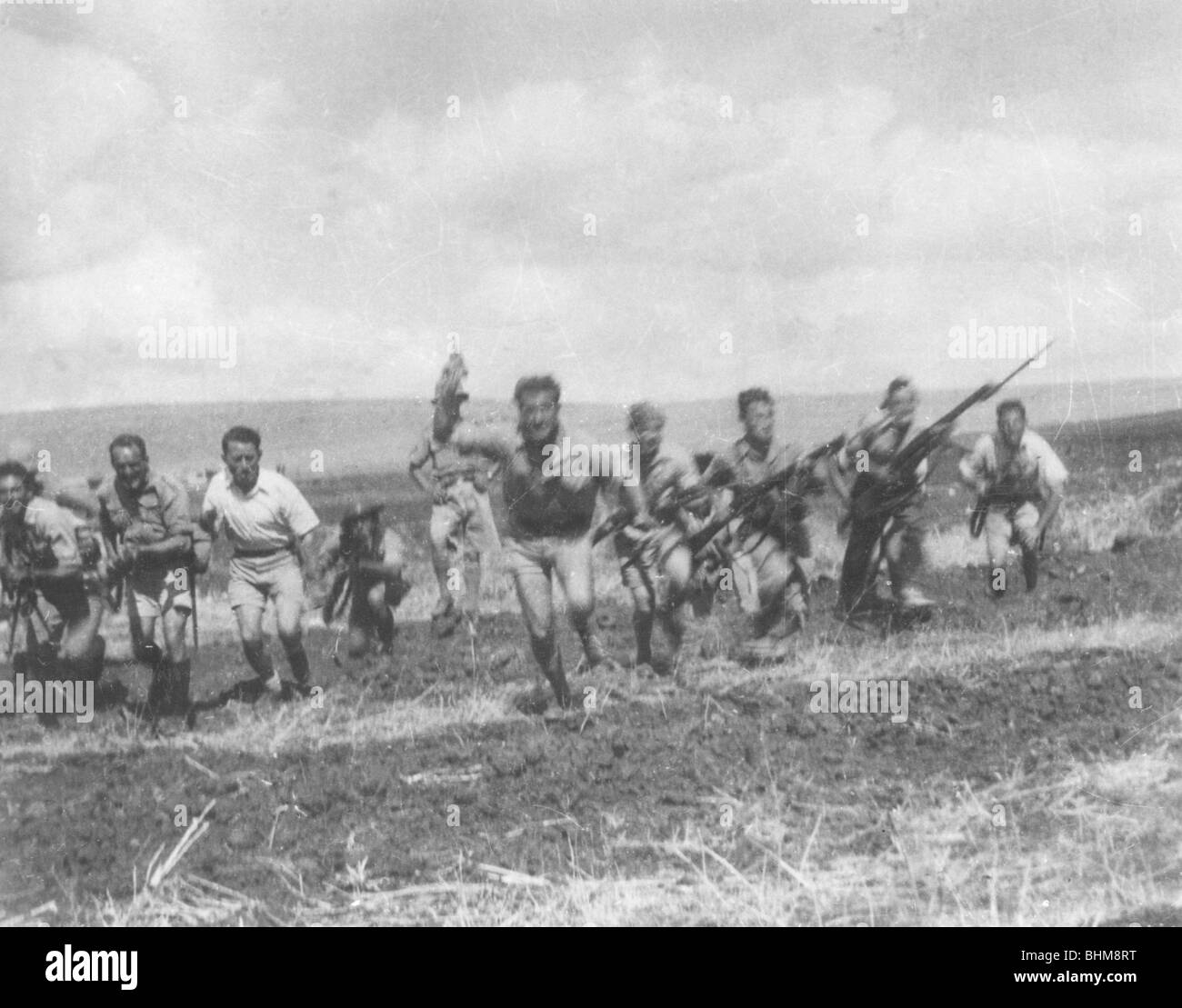 Special Night Squads training in Palestine, late 1930s. - Stock Image