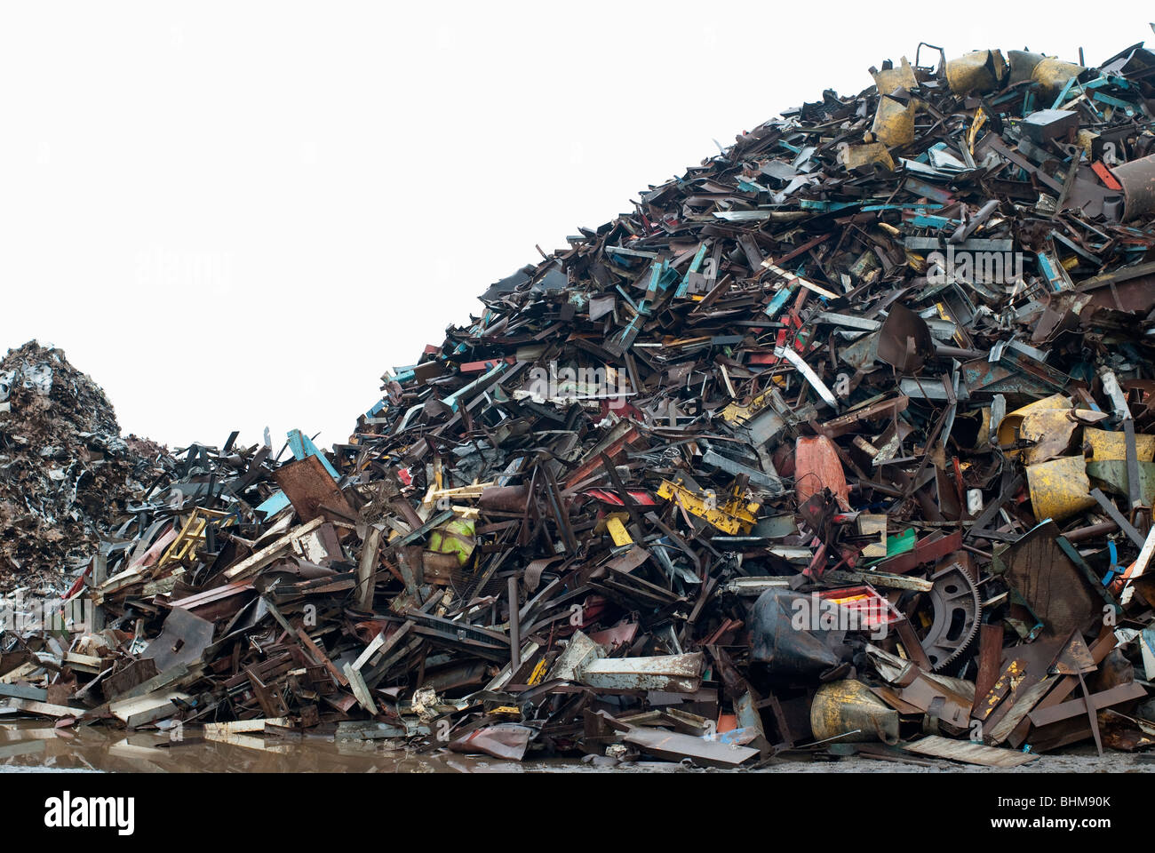 Old waste metal ready for recycling - Stock Image