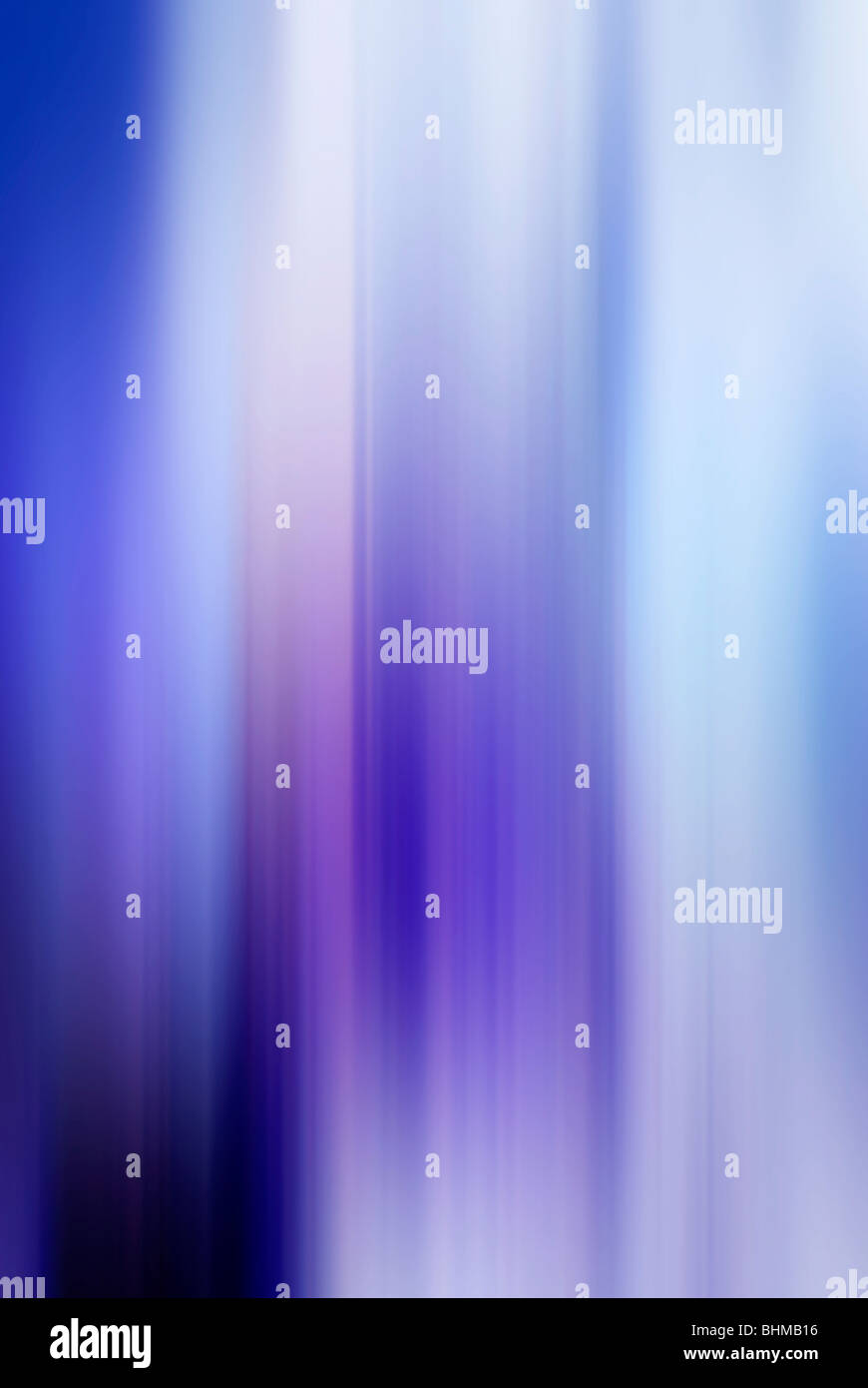 abstract background with blue violet and white lines in vertical motion blur - Stock Image