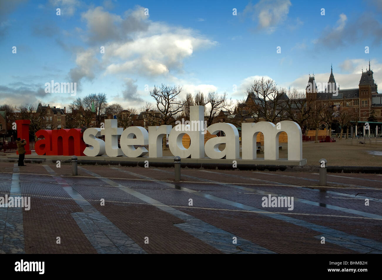 Holland, Amsterdam, wrote the Amsterdam museunstraat - Stock Image