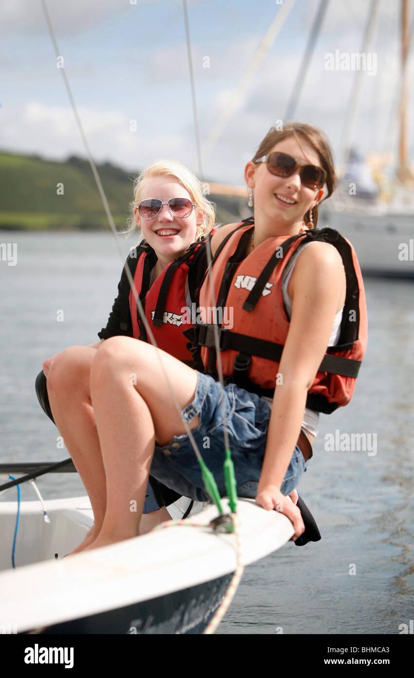 Girls Wearing Life Jackets On Stock Photos Amp Girls Wearing