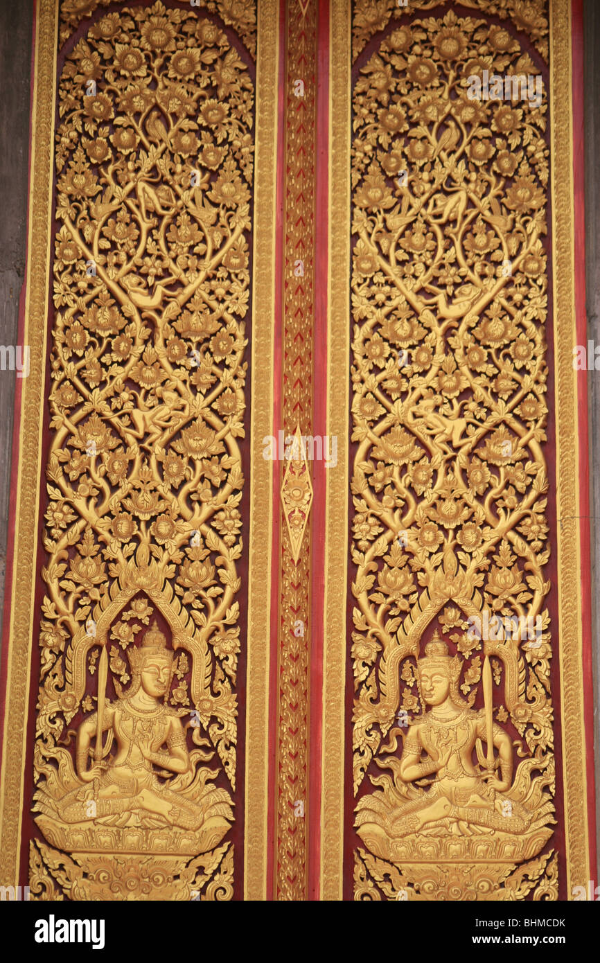Buddhist door to a temple in Bangkok Thailand. & Buddhist door to a temple in Bangkok Thailand Stock Photo: 28108351 ...