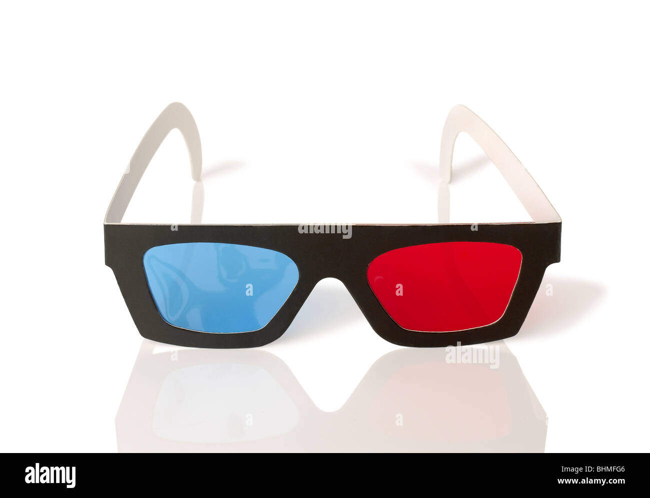 Three Dimensional viewing movie Glasses 3D 3-D Stock Photo