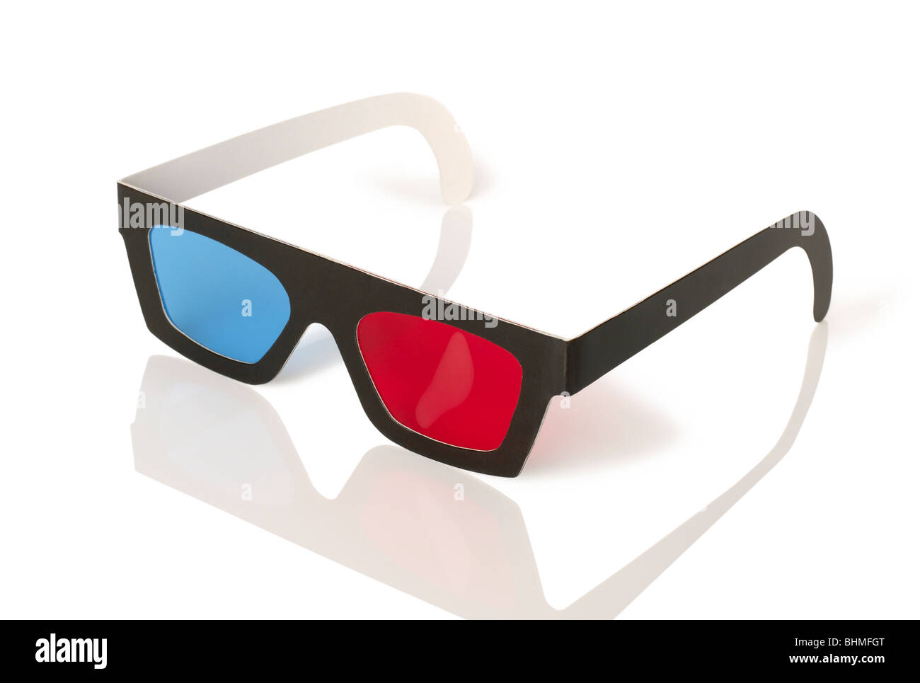 Three Dimensional viewing movie Glasses 3D 3-D - Stock Image