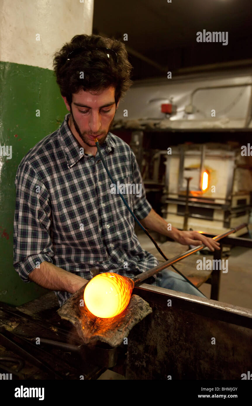 Glassblowing - Stock Image