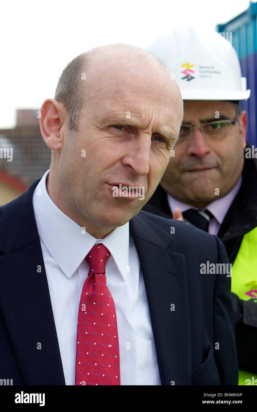 John Healey MP, The Housing Minister, visits aa new homes site in Dewsbury, West Yorkshire. - Stock Image