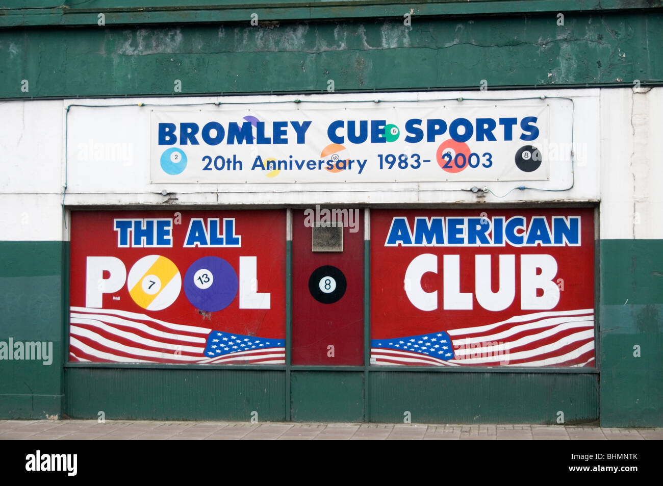 Bromley Cue Sports, Bromley, South London - Stock Image