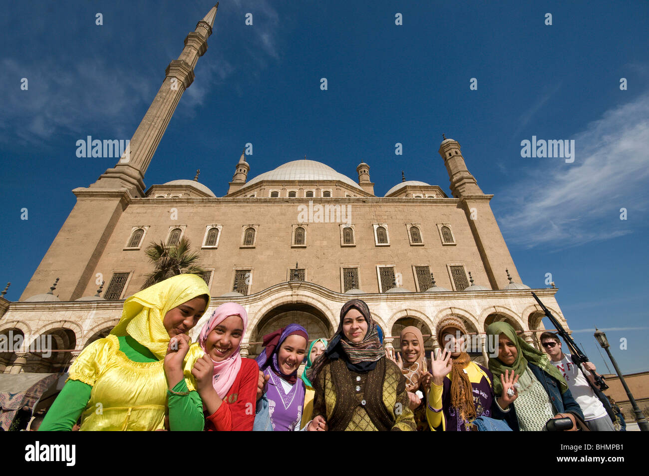 The Mosque of Muhammad Ali Pasha or Alabaster Mosque Cairo Egypt - Stock Image