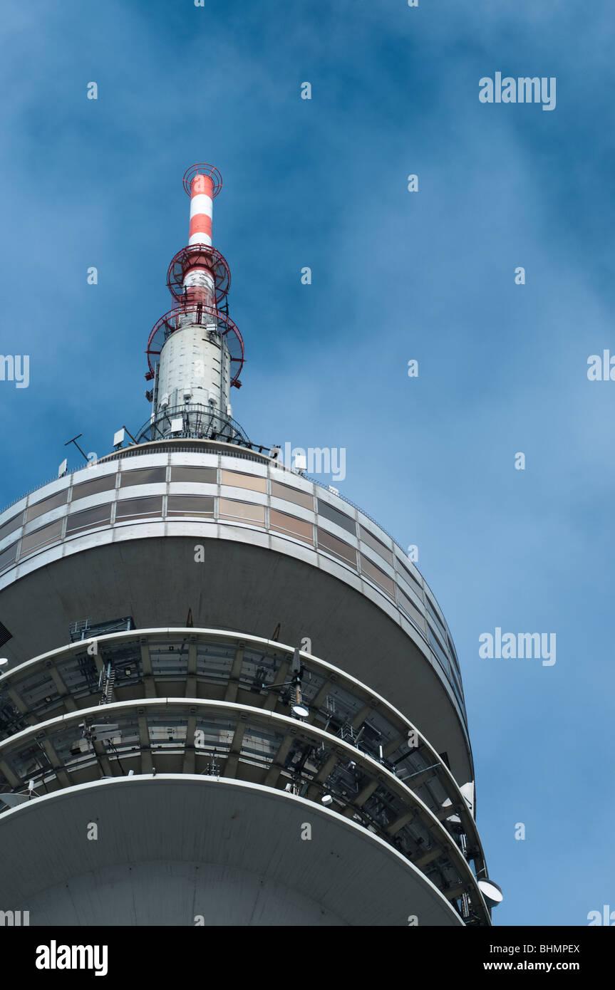 Olympic Tower Top Closeup - Stock Image