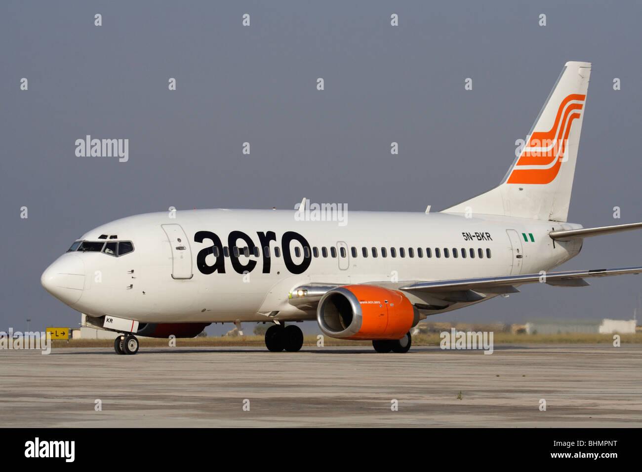 Aero Contractors Nigeria Boeing 737-500 - Stock Image
