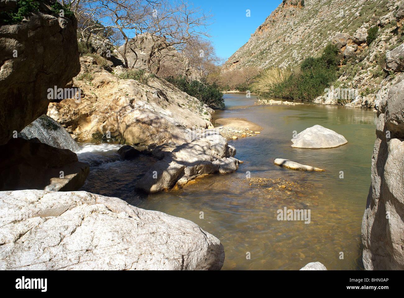 Petres river Rethymnon, Crete, Greece Stock Photo