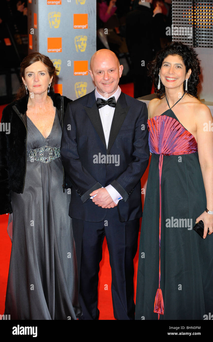 NICK HORNBY & GUESTS 2010 ORANGE BRITISH ACADEMY FILM AWARDS ROYAL OPERA HOUSE COVENT GARDEN LONDON ENGLAND - Stock Image