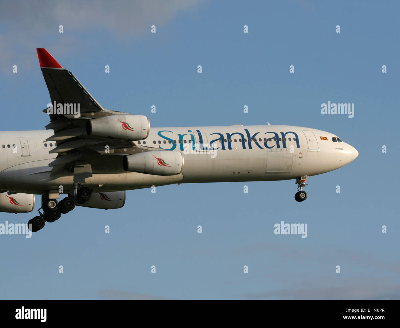 SriLankan Airlines Airbus A340-300 Stock Photo