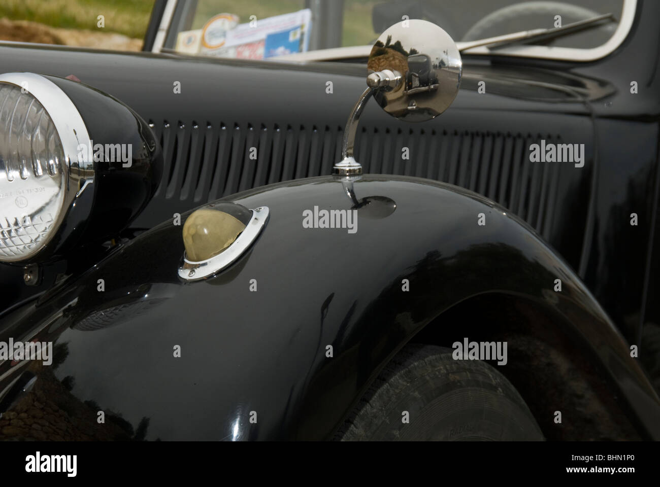 Detail view of vintage car - Stock Image