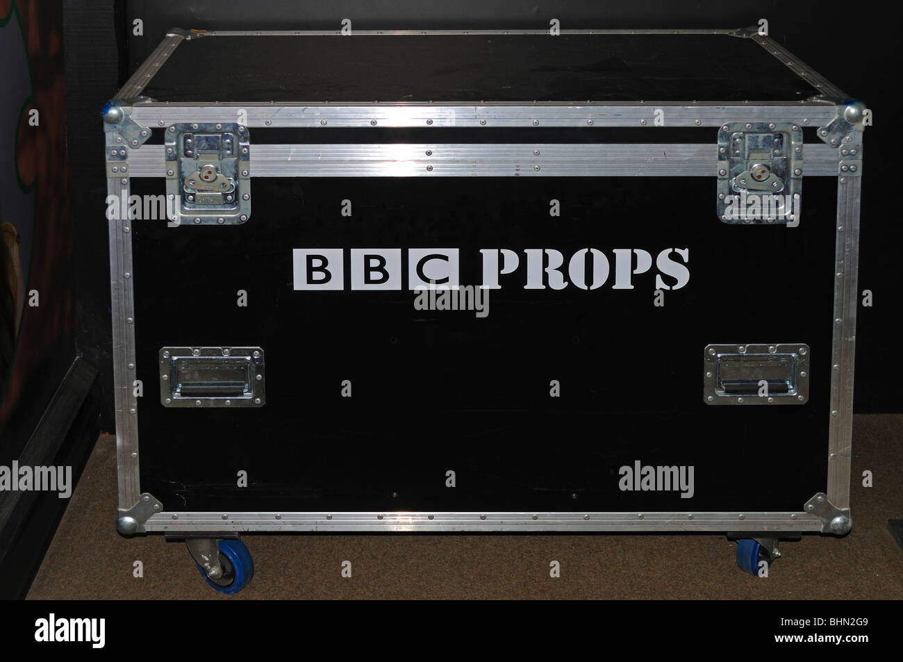 a BBC props box - Stock Image