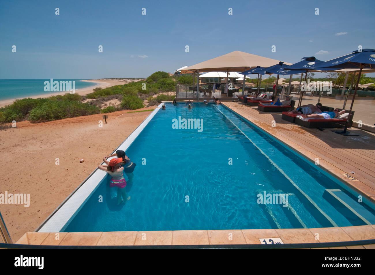 Swimming pool at Echo Beach Resort on the Kimberley region of Western Australia - Stock Image
