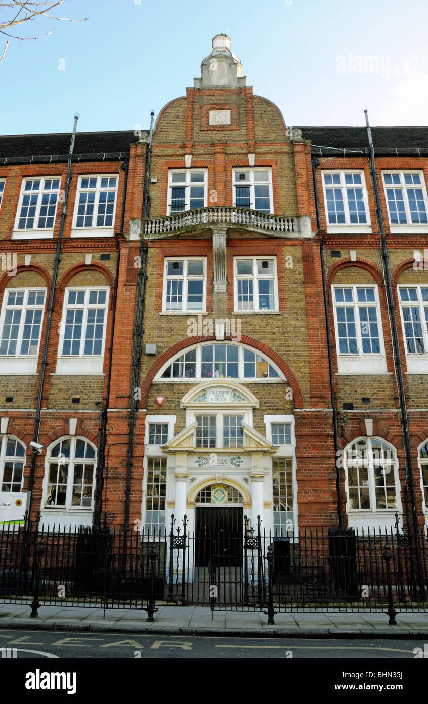 Gillespie Road School Highbury London England UK - Stock Image