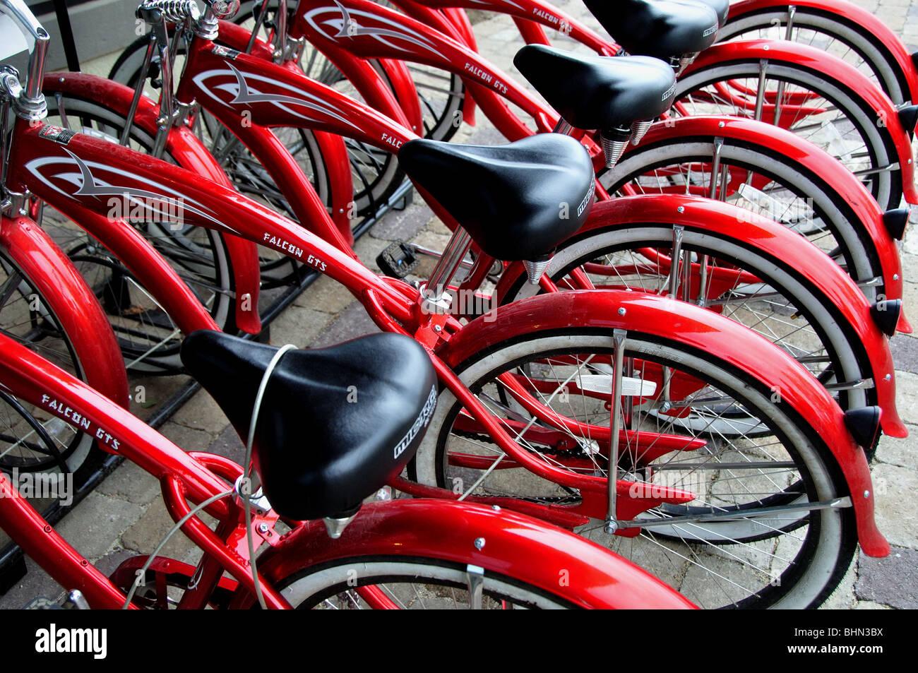USA, Idaho, McCall, Rental Bicycles - Stock Image