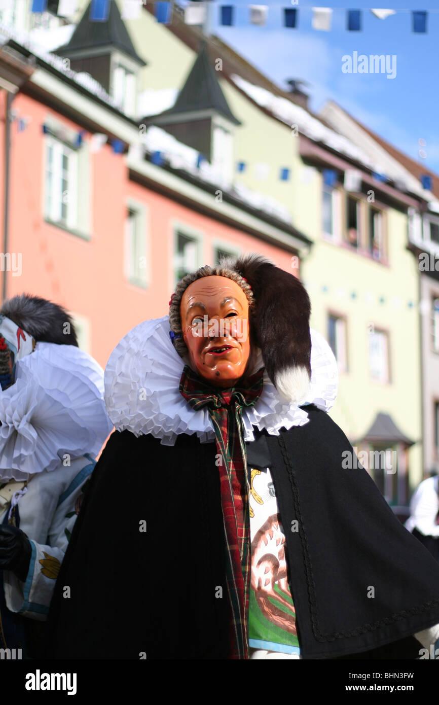Swabian-Alemannic carnival 'Fasnet' in Villingen, South Germany - Stock Image