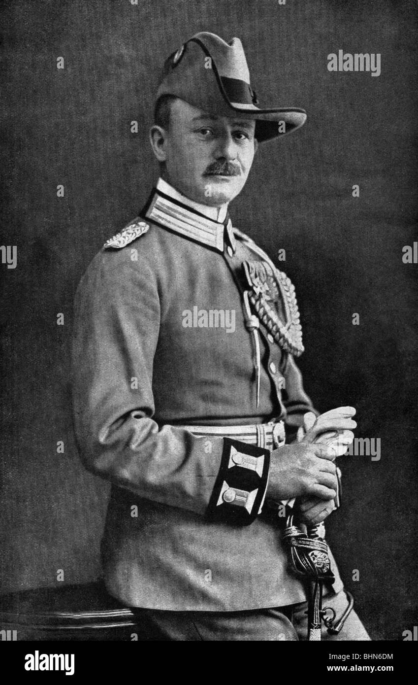 Lettow-Vorbeck, Paul von, 20.3.1870 - 9.3.1964, German general, commander of the German forces in East Africa 1913 - Stock Image