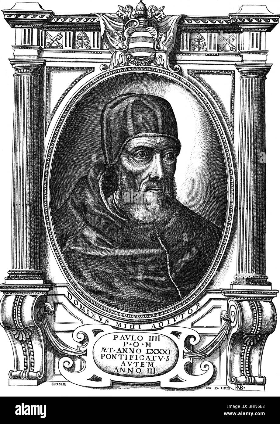 Gregory VII (Hildebrand of Soana), circa 1020 - 25.5.1085, pope 1073 - 1085, saint, portrait, wood engraving after - Stock Image
