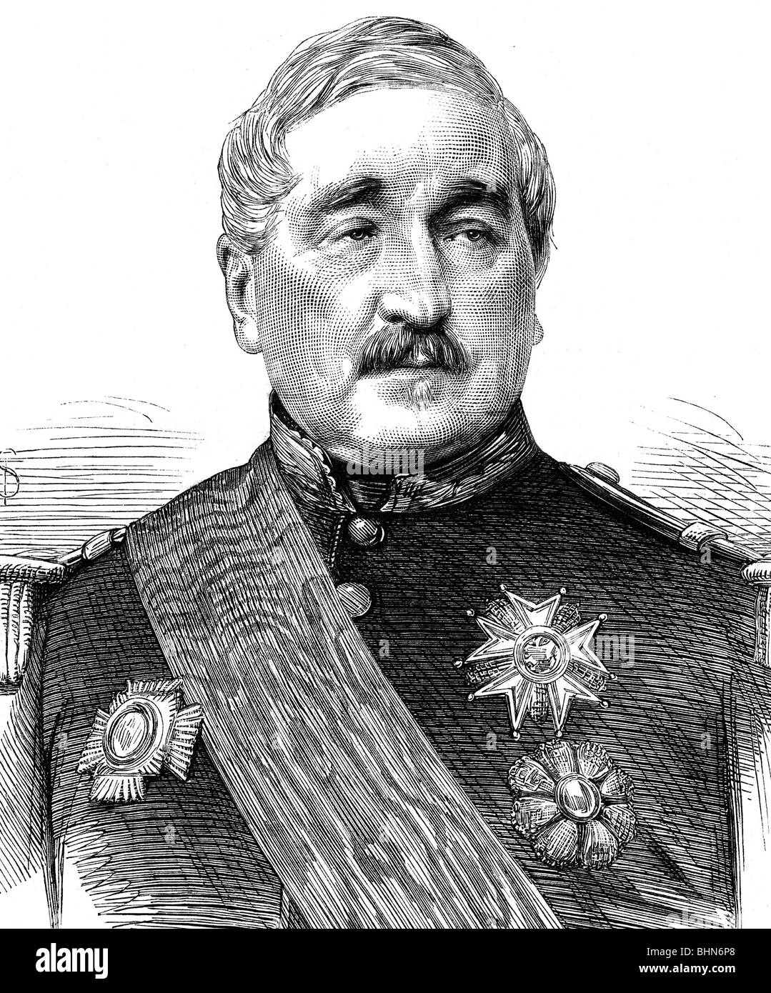 Cousin-Montauban, Charles, 24.6.1796 - 8.1.1878, French general and politician, Prime Minister 9.8.1870 - 4.9.1870, - Stock Image